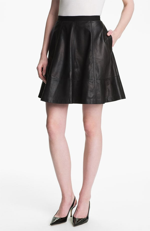 Leather's officially gone mainstream, popping up at offices around the country. We guarantee she'll wear this Miss Wu skirt ($545) to work and shopping on the weekend.