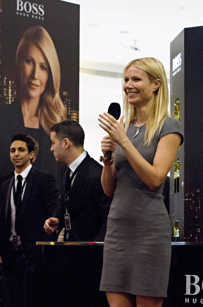 Gwyneth Paltrow promoted Hugo Boss's Boss Nuit.