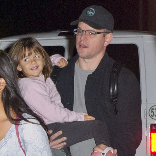 Matt Damon Arrives at JFK With His Four Daughters