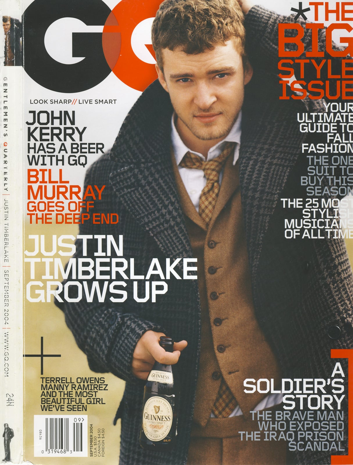 When his 2004 GQ cover hit newsstands.
