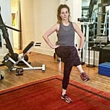 """Why it's effective: """"This is one of my most challenging moves engaging hips, thighs, butt, core, and cardio."""""""