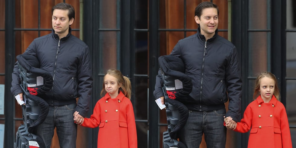 Tobey Maguire With His Daughter Ruby in NYC