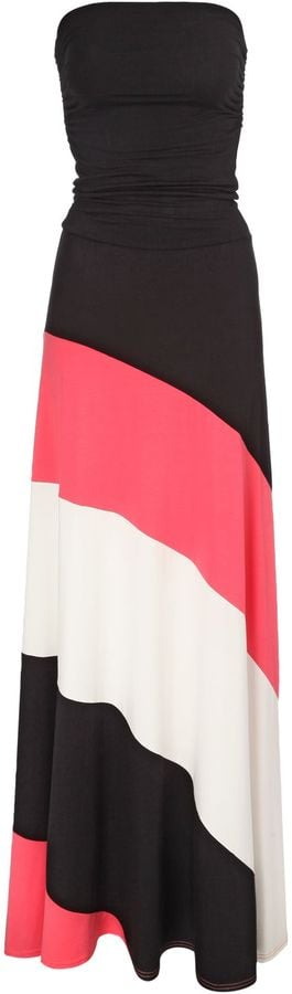 Jane Norman bandeau dress with striped skirt (£42)