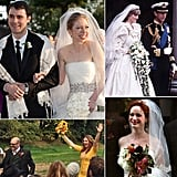 From Princess Diana's cascading orchids to Christina Hendricks's Fall-inspired flowers, head to POPSUGAR Home to take a look at these celebrities' beautiful bouquets to get inspired for your own wedding-day florals.