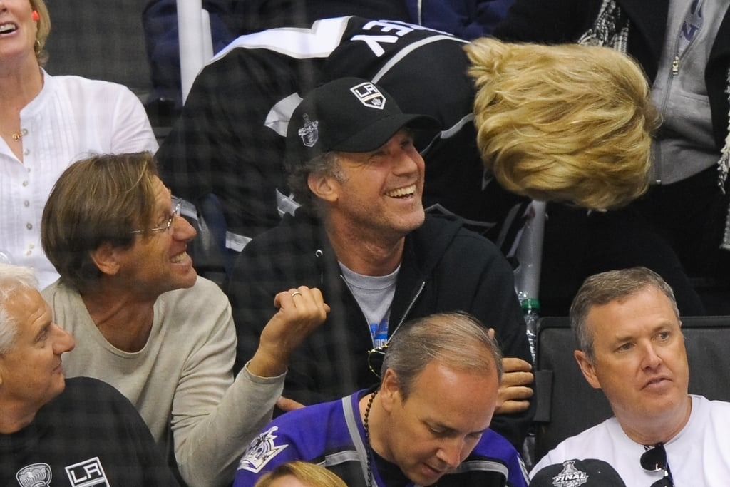 Will Ferrell enjoyed the LA Kings Stanley Cup finals game in LA.