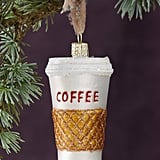 To Go Coffee Glass Ornament