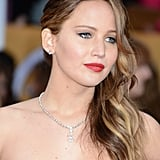 Jennifer Lawrence Doesn't Let Pneumonia Stop Her Glam SAGs Appearance