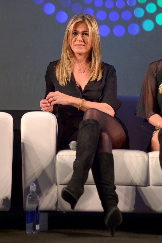 Jennifer Aniston Wearing Black Boots October 2016