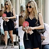 New mom Sienna Miller knows just how to style up her LBD.