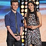 Chris Colfer and Victoria Justice