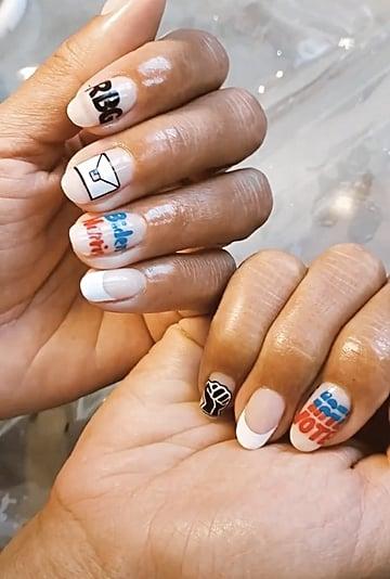Hannah Bronfman's Election-Themed Nail Art