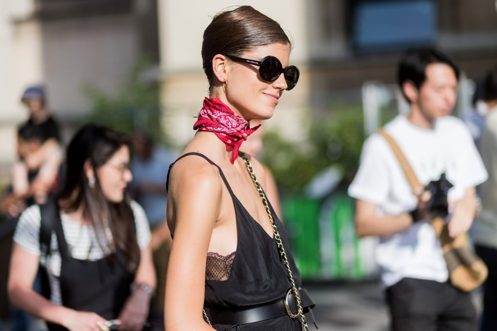 If your outfit is lacking that accessory touch, wear a bandana.