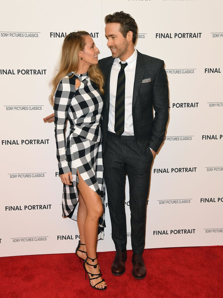 After almost a year of keeping us waiting, Blake Lively and Ryan Reynolds finally hit the red carpet together at the NYC premiere of Final Portrait on Thursday evening. Blake looked flawless in a black-and-white Monse dress, while Ryan cut a suave figure in a dark gray tux. The couple exchanged loving looks and smiles while snapping photos together, but what made the event extra special was that it marked Blake and Ryan's first red carpet appearance in almost a year! That's right . . . can you believe it's been that long?  The last time we swooned over the picture-perfect pair was at the Met Gala last May, though Blake did hit the red carpet just last week with her mom, Elaine, and older sister Robyn at the launch of Lorraine Schwartz's new jewelry line in LA. Oh, and did you happen to catch Ryan's joke about Blake in the new Deadpool 2 trailer? We've missed you, Blake and Ryan!      Related:                                                                                                           Why Ryan Reynolds and Blake Lively Are the Cutest Couple