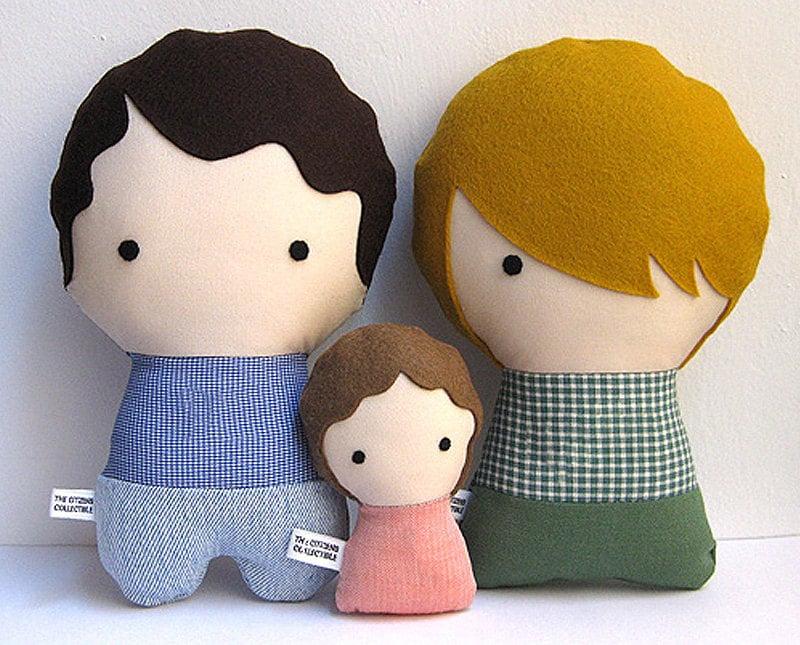 The Citizens Collectible Family Stuffed Fabric Dolls