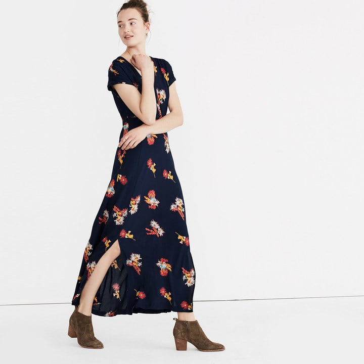 7013a443ca8 Madewell Deep-V Maxi Dress in Cactus Flower