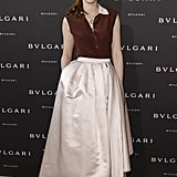 Louise Bourgoin at the unveiling of the Bulgari Diva fine jewelry collection in Paris.  Photo courtesy of Bulgari