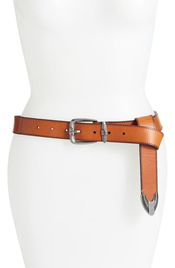 Merida: Frye Flat Panel Leather Belt