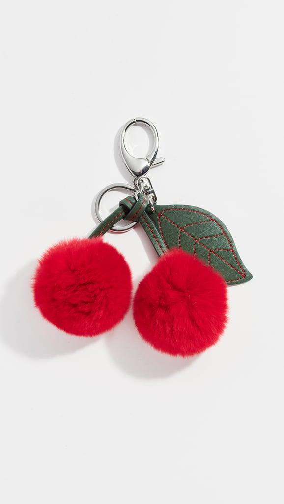 Rebecca Minkoff Fur Cherry Key Fob