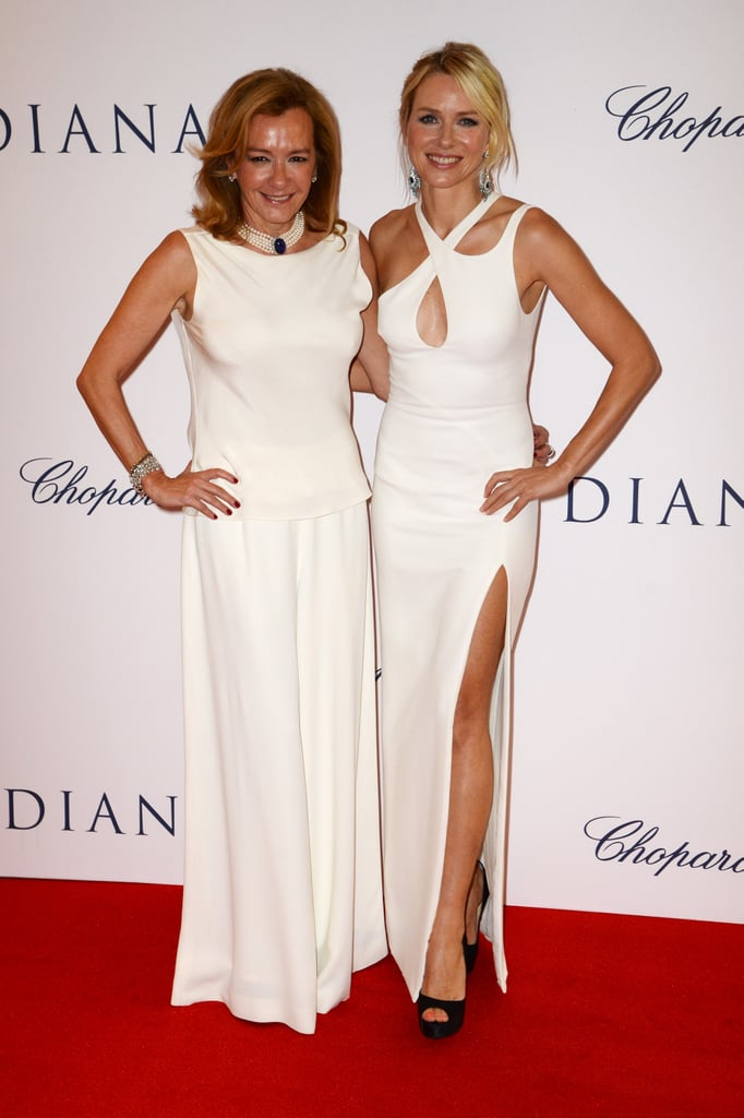 Naomi Watts posed with Chopard copresident Caroline Scheufele.
