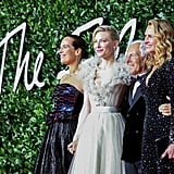 Roberta Armani, Cate Blanchett, Giorgio Armani, and Julia Roberts at the British Fashion Awards 2019