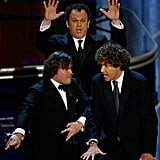 Jack Black, John C. Reilly, and Will Ferrell hit the stage for a performance.
