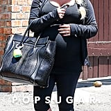 Jessica Simpson showed off her growing baby bump in spandex.