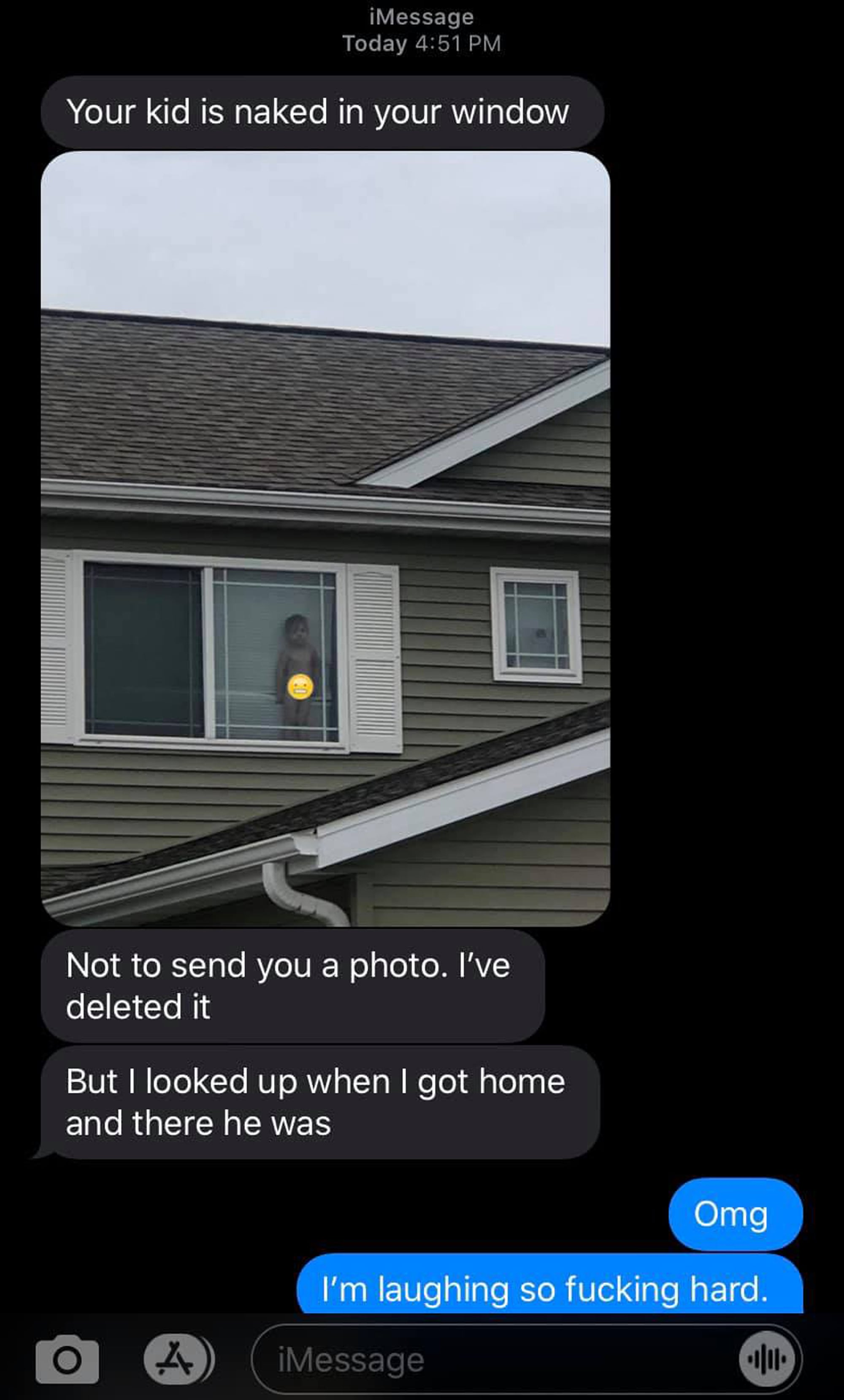 """Mom Thought She Was Doing Great, Then Got a Text From Her Neighbor: """"Your Kid Is Naked in Your Window"""""""