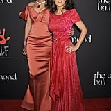 Rihanna met up with Salma Hayek on the red carpet.
