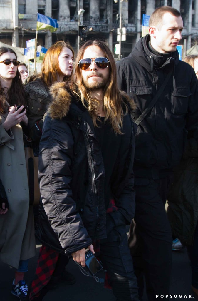 Video: Jared Leto With 30 Seconds To Mars in Ukraine