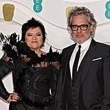 Dalia Ibelhauptaite and Dexter Fletcher at the 2020 BAFTAs in London