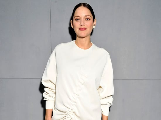 Pregnant Marion Cotillard Wears Ridiculously Chic Sweater Dress to Dior