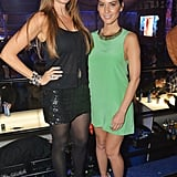 Seen here with Olivia Munn at the Rolling Stone party, Sofia Vergara put a little shine into her all-black look by way of one playful sequin-covered miniskirt.