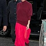 Victoria Beckham: Cranberry Boots