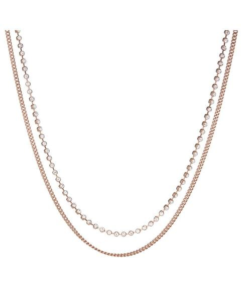 Luv AJ Diamonte Chain Charm Necklace