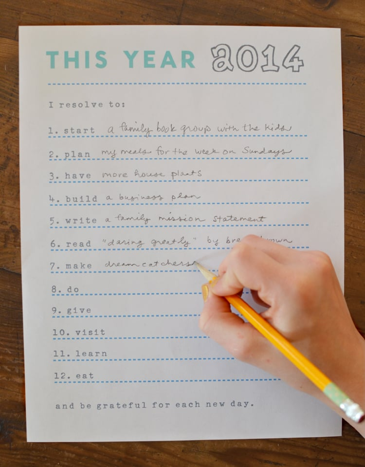 photo regarding New Year Resolution Printable named Phase Verbs Resolutions Printable 2014 Refreshing Decades