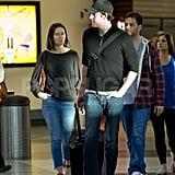 John Krasinski and Emily Blunt headed to their flight with Jimmy Kimmel.