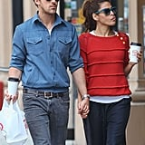 Ryan Gosling and Eva Mendes did lunch in NYC.