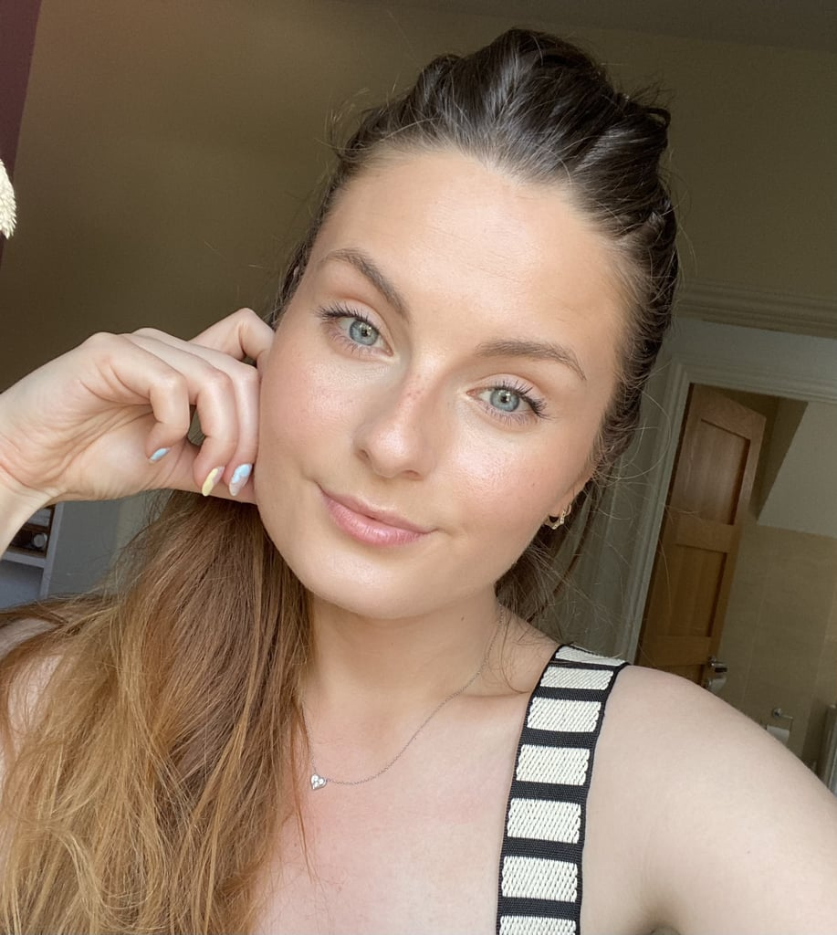 Tori Wearing Glossier Solar Paint in Shade Flare