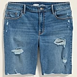 Old Navy High-Waisted Distressed Bermuda Jean Shorts