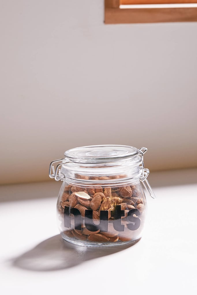 Small Clipped Glass Storage Jar