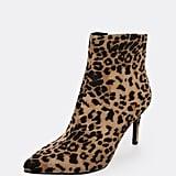 Shein Pointy Toe Side Zip Leopard Booties