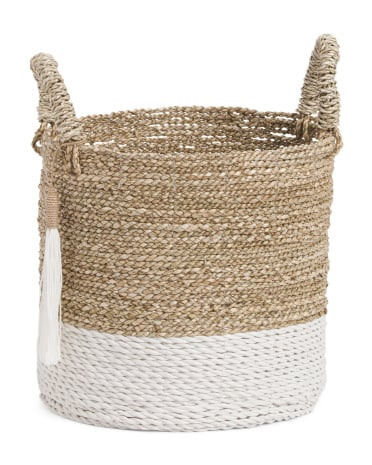 Small Seagrass Raffia Basket ($13)