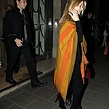 Kate Moss leaves Claridge's hotel with Jamie Hince.