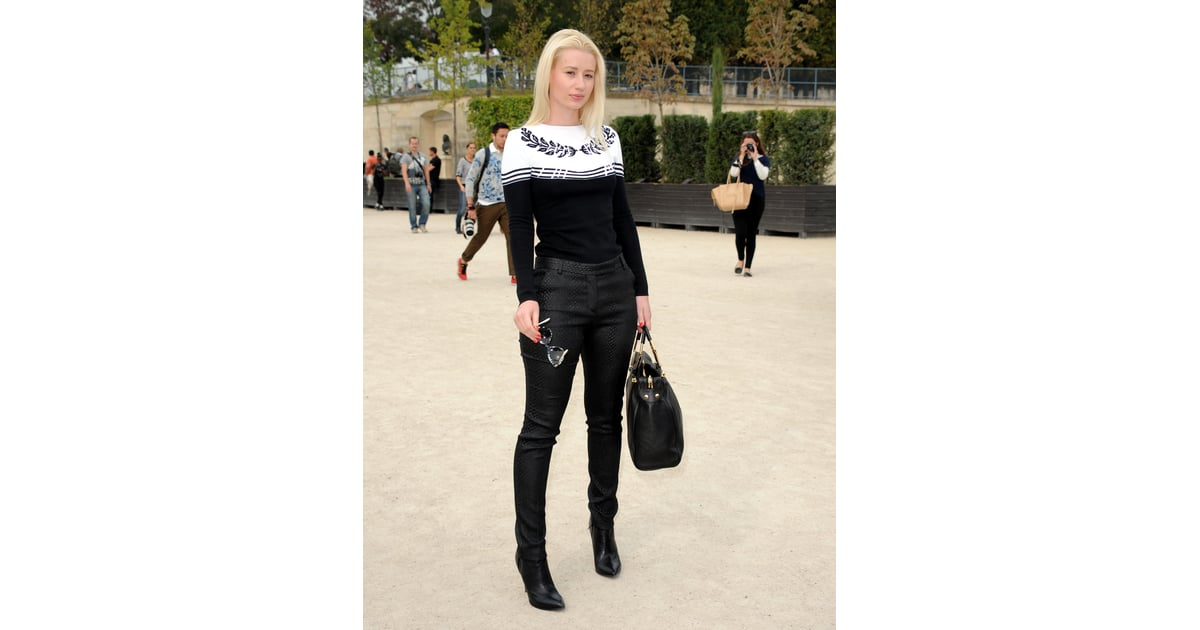 Iggy Azalea At Paris Fashion Week Spring 2014 Iggy