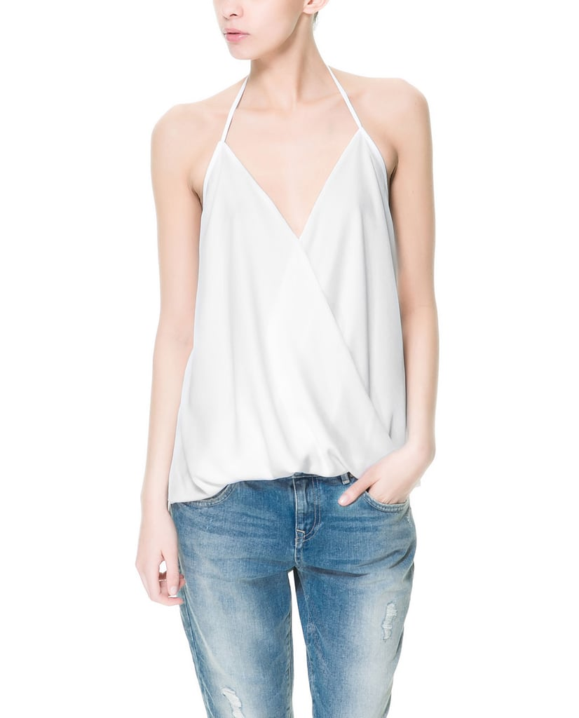 When it's sticky out, this Zara strappy crossover top ($30) will be your no-fuss solution to looking chic.