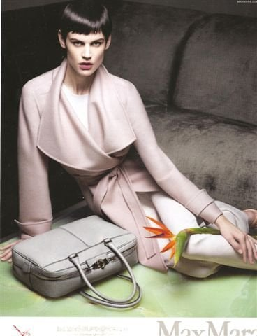 Pale pink wrap coats and nude statement bags dominate the Spring 2012 Max Mara ads. Source: Fashion Gone Rogue