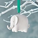 White Elephant Ornament