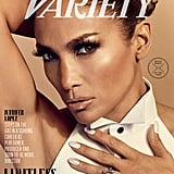 Jennifer Lopez With Pearly White Nails For Variety 2019