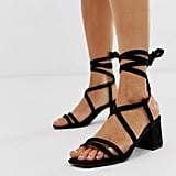 Missguided Lace Up Heeled Sandals