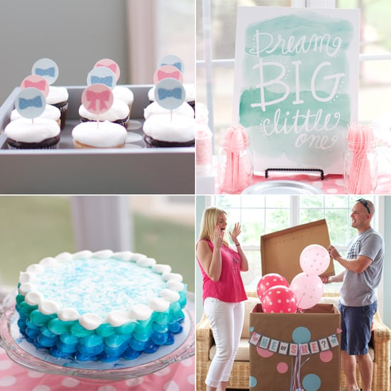 Watercolor-Inspired Gender Reveal Party